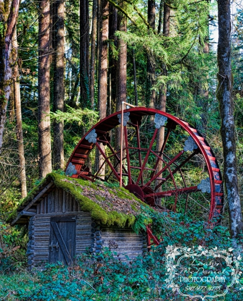 4 image stitch approx full image size 17x21 240 ppi. Niagara Oregon Waterwheel.